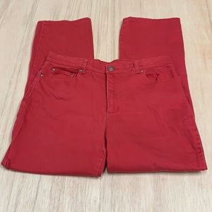Style&co 14 red jeans bootcut women